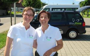 Anke Schneider (l.) und Anja Winter von WauHow. (Bild: zvg)