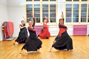 Olé! Im Tanzzentrum wird auch Flamenco unterrichtet.(Bild: zvg)