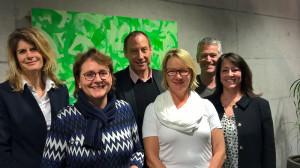 Das Komitee: Nathalie Quiquerez (v.l.), Cornelia Zecchinel, Christian Neuweiler, Edith Wohlfender, Jürg Kocherhans und Pia Donati. (Bild: zvg)