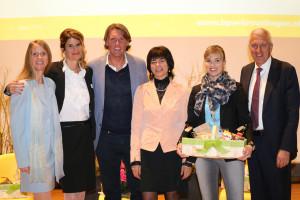 (V.l.) Daniela Wyss, Nathalie Quiquerez, Carsten K. Rath, Antje Kaz, Diana Gutjahr, Pierin Vincenz. (Bild: zvg)