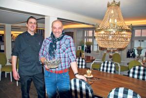 Küchenchef Danny Möhring (li.) und Direktor Stephan Pagnoncini freuen sich auf die neue Saison in der «Krone» Gottlieben. (Bild: Thomas Martens)
