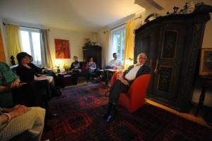 """Verleger Ekkehard Faude las bei """"Literatur in den Häusern"""" 2014. (Bild: zvg)"""