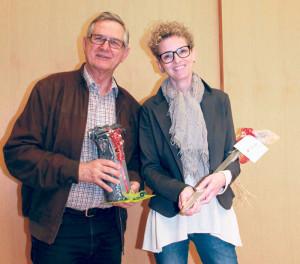 Paul Stähli tritt nach elf Jahren, Isabelle Graner nach zwölf Jahren aus dem Vorstand des Quartiervereins Bodan zurück.(Bild: ek)