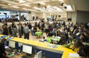 Das Wahlzentrum in der Kantonsschule Frauenfeld war rege besucht. (Bild: zvg)