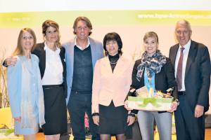 v.l. Daniela Wyss, Nathalie Quiquerez, Carsten K. Rath, Antje Kaz, Diana  Gutjahr, Pierin Vincenz.(Bild: page)