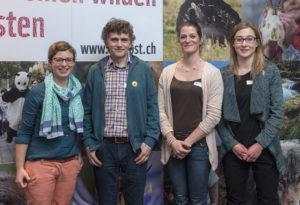 (V.l) Muriel Gschwend (Geschäftsführerin), Reto Frei (Co-Präsident), Gabriele Aebli (Co-Präsidentin), Ramona Schlegel (Aktuarin). (Bild: Roger Nigg, Fotostudio Bühler, Romanshorn)