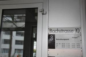 Das Betriebungsamt Kreuzlingen an der Bachstrasse 10. (Bild: zvg)