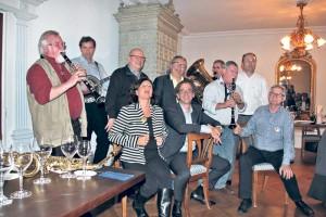 Vorstand und Musiker gehen Hand in Hand im Verein Jazzmeile.(Bild: ek)