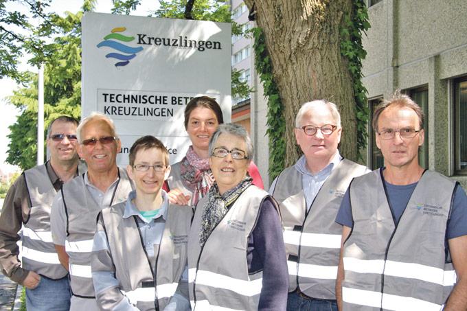 Die Ableserinnen und Ableser der Technischen Betriebe Kreuzlingen. (Bild: zvg)