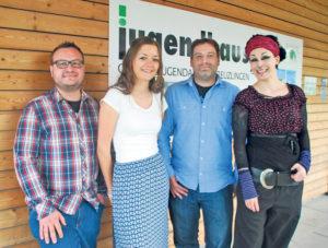 Das Team der OJa (v.l.), in dieser Besetzung seit Mai bzw. Juni 2015: Tobias Mahlbacher, Alexandra Eugster, Bastian Ehrmann und Nadja Dietsche. (Bild: sb)