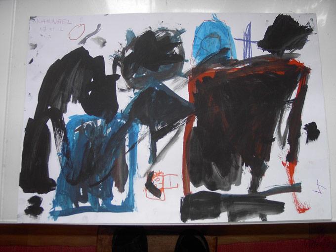 Zeichnung des achtjährigen Nahnael. (Bild: zvg)