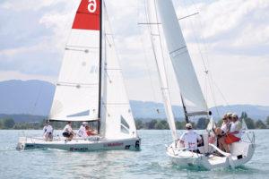 Gut im Wind: Die Seglervereinigungen Kreuzlingen und Bottighofen an der Swiss Sailing Challenge auf dem Thuner See.