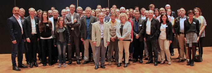 Parlamentarier aus Kreuzlingen und Konstanz tauschten sich im Dreispitz Sport- und Kulturzentrum in Kreuzlingen aus. (Bild: IDK)