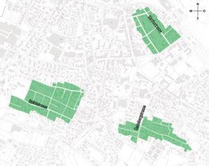 Eine Planungszone schützt diese drei Strukturerhaltungsgebiete. (Bild: IDK)