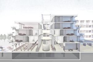 Der Freiraum der TReppe wird verglast und erinnere laut Architekt an eine Kathedrale. (Bild: zvg)