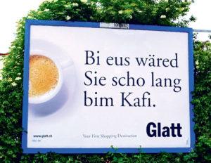 Kafi statt Stau im Einkaufszentrum Glatt. (Bild: vf)