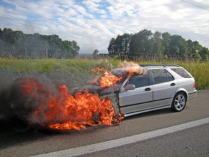 Beim Autobrand auf der Autobahn A7 wurde niemand verletzt.  (Bild: Kapo TG)
