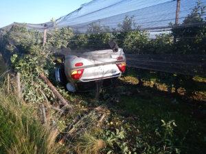 Die Autofahrerin wurde beim Unfall verletzt (Bild: Kapo TG)