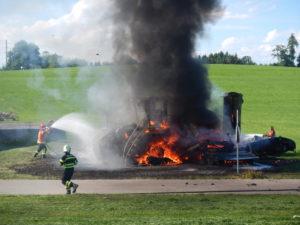 Beim Brand entstand hoher Sachschaden. (Bild: Kantonspolizei Thurgau)