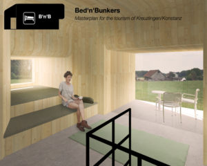 Die Bunker könnten künftig als Unterkunft für Touristen dienen, wie im Entwurf von Julia Schall, Sabrina Huber und Iris Dewit. (Bild: zvg)