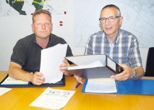 Fabian Neuweiler (l.) und Elmar Raschle von der Geschäftsprüfungskommission haben sich intensiv mit der Causa Dörflinger befasst. (Bild: sb)