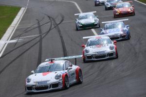 Philipp Frommenwiler am Porsche Mobil 1 Supercup in Budapest. (Bild: Porsche)