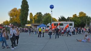 """Die Kantonspolizei Thurgau betrieb am """"Fantastical"""" einen mobilen Polizeiposten. (Bild: Kantonspolizei Thurgau)"""