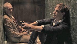 """Siemen Rühaak (links) und Jan Hutter in KARNER 9 von Ivana Radmilovic (Bild: Filmbeitrag """"Karner 9"""")"""
