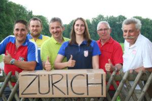Sie werden mit ihren Gruppen in Zürich um eine Medaille kämpfen. Von links: Roger Schmied (SG Illhart) Christoph Martin (SG Bürglen), Markus Grubenmann (SG Uesslingen),  Andrea Leuzinger (SG Lustdorf), Lorenz Cavegen (SV Kreuzlingen) und Hansjörg Lang (FSG Mammern). (Bild: Vreny Zaugg)
