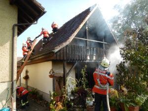 Beim Brand des Einfamilienhauses wurde niemand verletzt. (Bild: Kapo TG)
