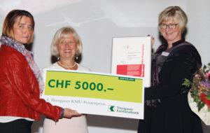Preisverleihung 5. Thurgauer KMU-Frau 2015, an Sabine Ruf Häni (Bild: Barbara Hettich)
