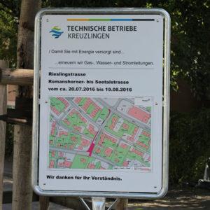 Die neuen Informationstafeln der Technischen Betriebe Kreuzlingen. (bild: zvg)