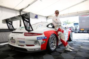 Freude beim Kreuzlinger Rennfahrer über die gute Platzierung beim Porsche Mobil 1 Supercup in Monza. (Bild: zvg)