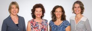 Karin Griesemer, Madeleine Vollenweider, Martina Hensch und Esther Haller (v.l.). (Bild: Ulrike Sommer)