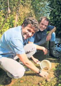 Markus Bürgisser, Geschäftsführer von Pro Natura Thurgau und Philip Taxböck, Leiter des Projekts Mülibach. (Bild: ek)
