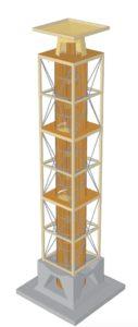 So wird der neue Napoleonturm aussehen. (Bild: zvg)
