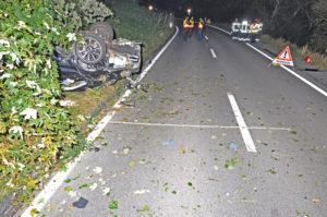 Beim Unfall wurden vier Personen verletzt, ein Mann so schwer, dass er starb. (Bild: Kantonspolizei Thurgau)