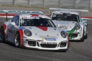 Philipp Frommenwiler beim Porsche Mobil 1 Supercup Austin 2016. (Bild: zvg)