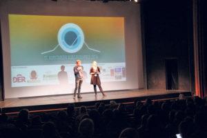 Der Winterthurer Matthias Sahli beantwortet Fragen aus dem Publikum zu seinem Kurzfilm «Hausarrest», welcher den zweiten Jurypreis erhielt. (Bild: ek)