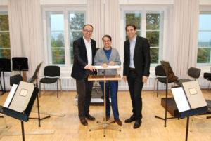 Oberbürgermeister Uli Burchardt (v.l.), Intendant Beat Fehlmann und Bundestagsabgeordneter Andreas Jung. (Bild: zvg)
