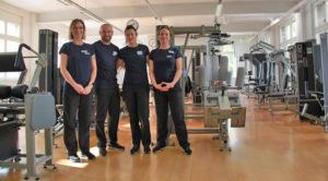 Das Trainerteam um Philipp Mangold im Kieser Studio. (Bild: ek)