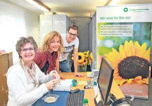 Elke Huldi, Cornelia Helg und Dominic Wöcke (v.l.) arbeiten eng zusammen. (Bild: ek)