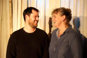 Die Programmleiter Simon Hugerbühler und Birgit Auwärter. (Foto: Lukas Huggenberg)